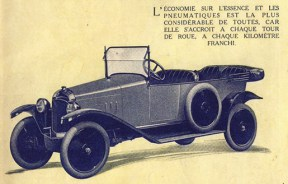 10 HP Typ A Torpedo Werbung 1919