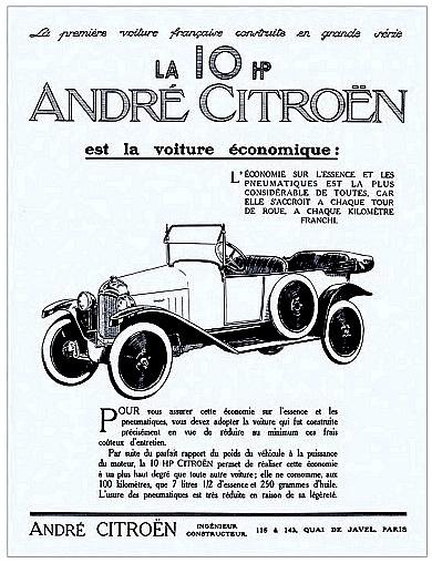 12 HP Typ A Torpedo Werbung 1920