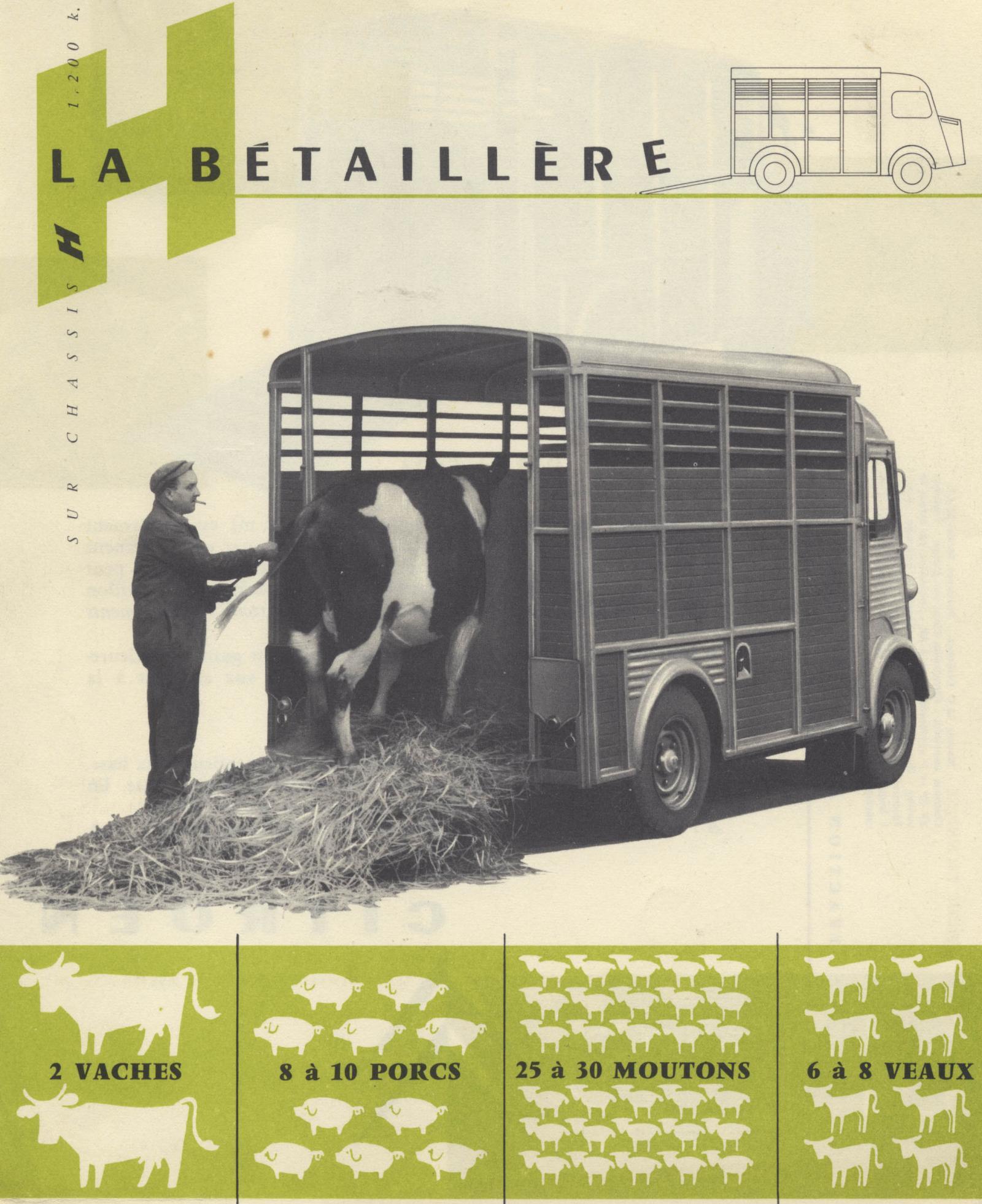 Prospekt Typ H Viehtransporter 1957