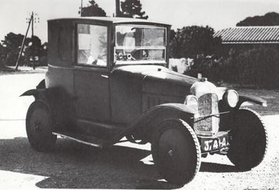 10 HP Type A 3-paikkainen Coupé Docteur Short Chassis