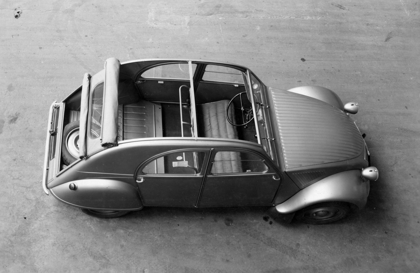 2CV 1948 Draufsicht