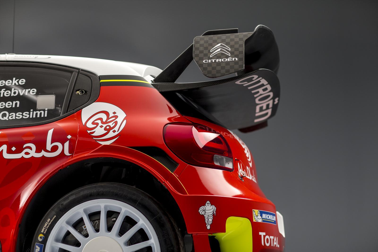 C3 WRC - profil arrière