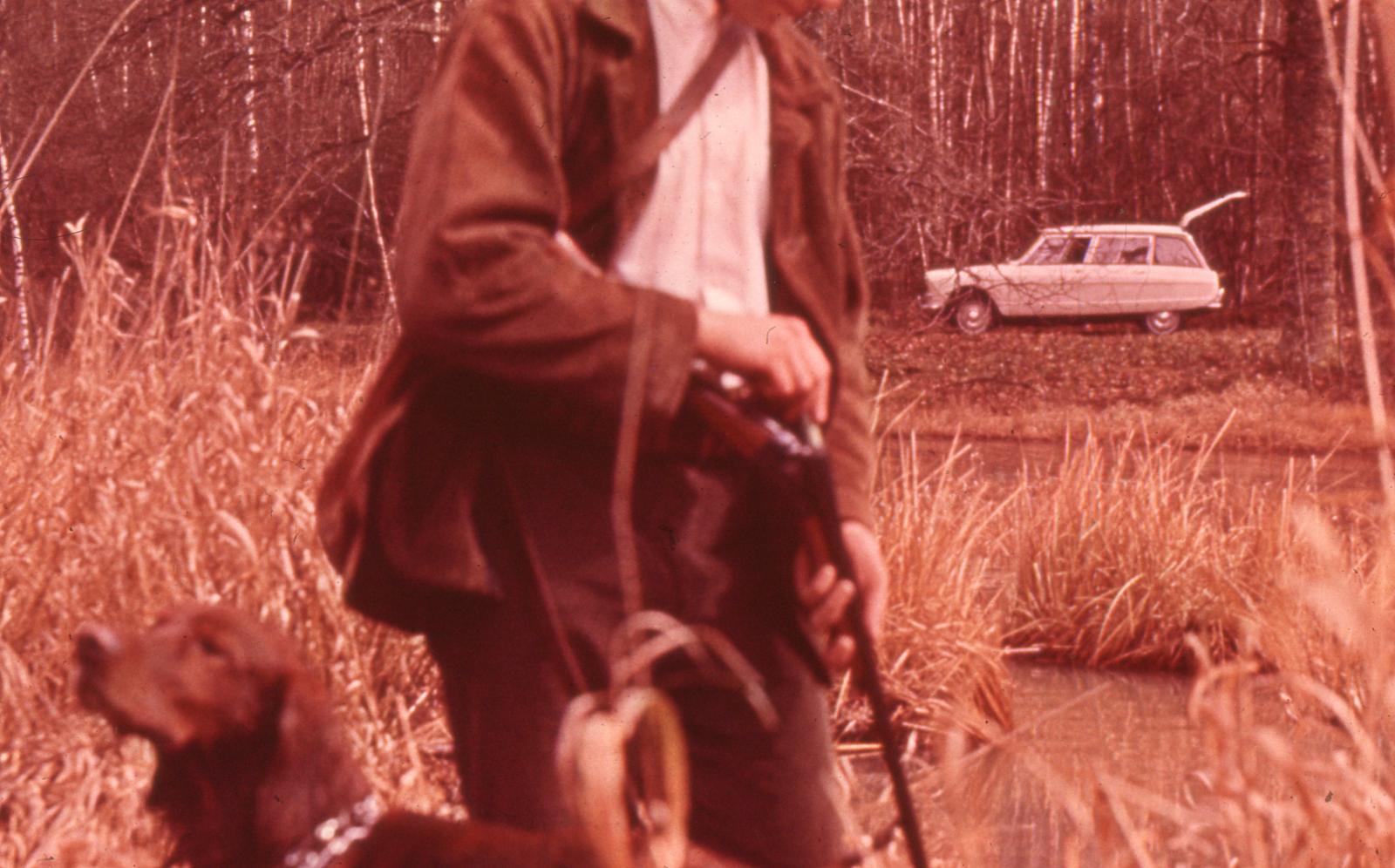 AMI 6 Break 1964 et un chien de chasse