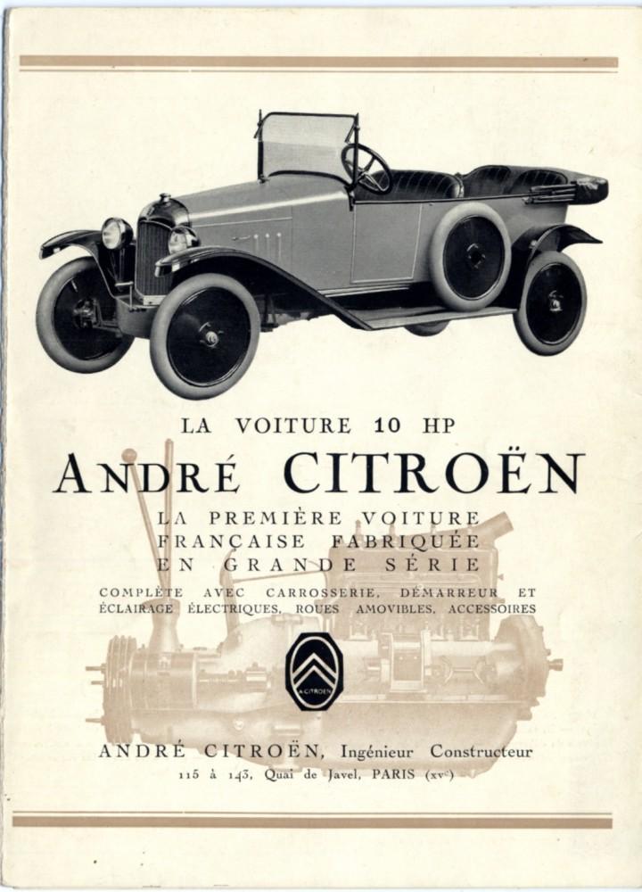 Prospekt 10 HP Typ A 1919
