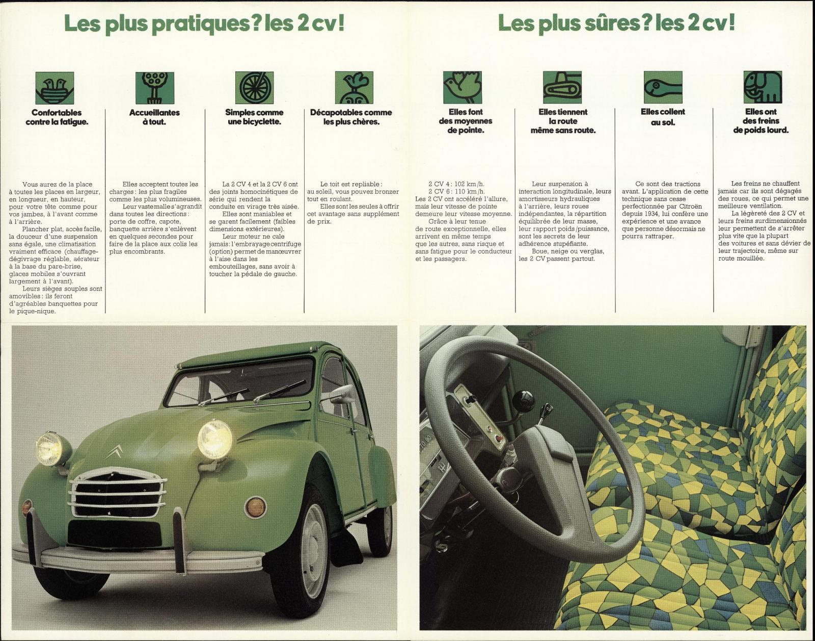 Prospekt 2CV Modelljahr 1974