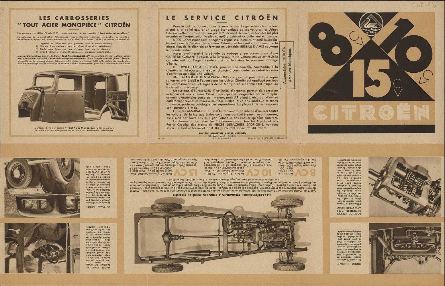 Werbeprospekt Rosalie 1932