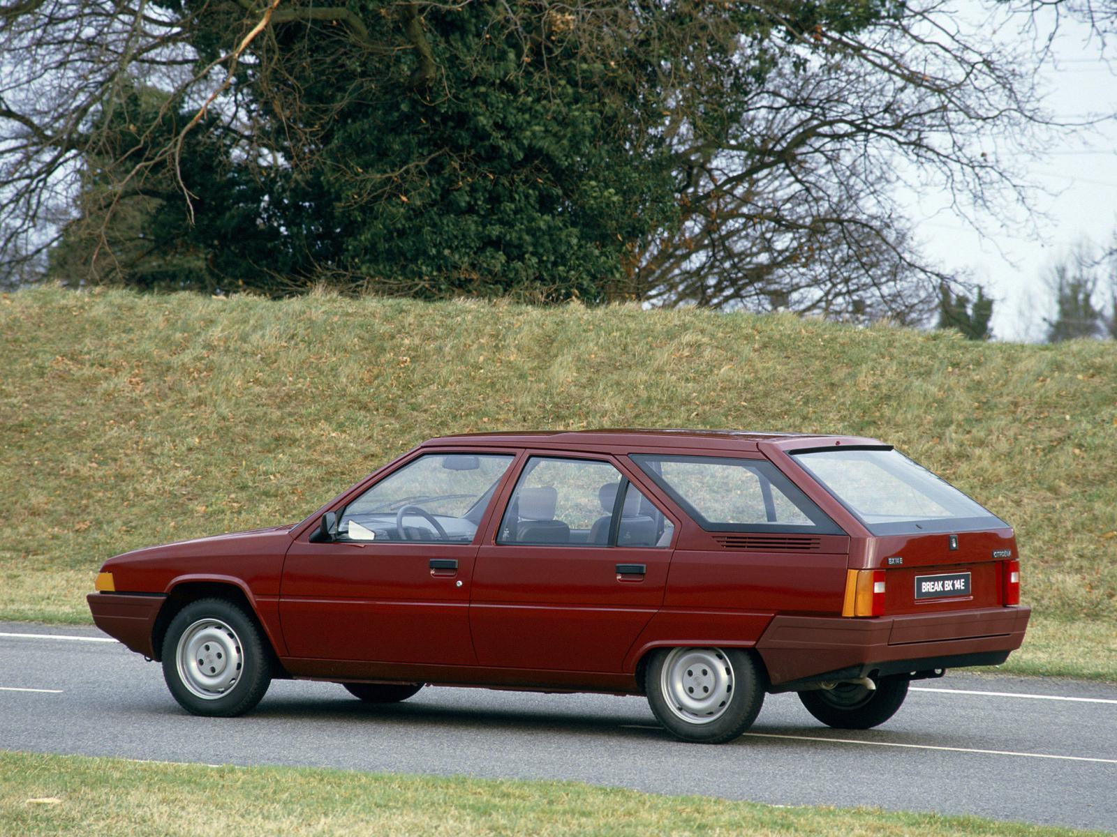 BX 14 E 1985 3/4 arrière