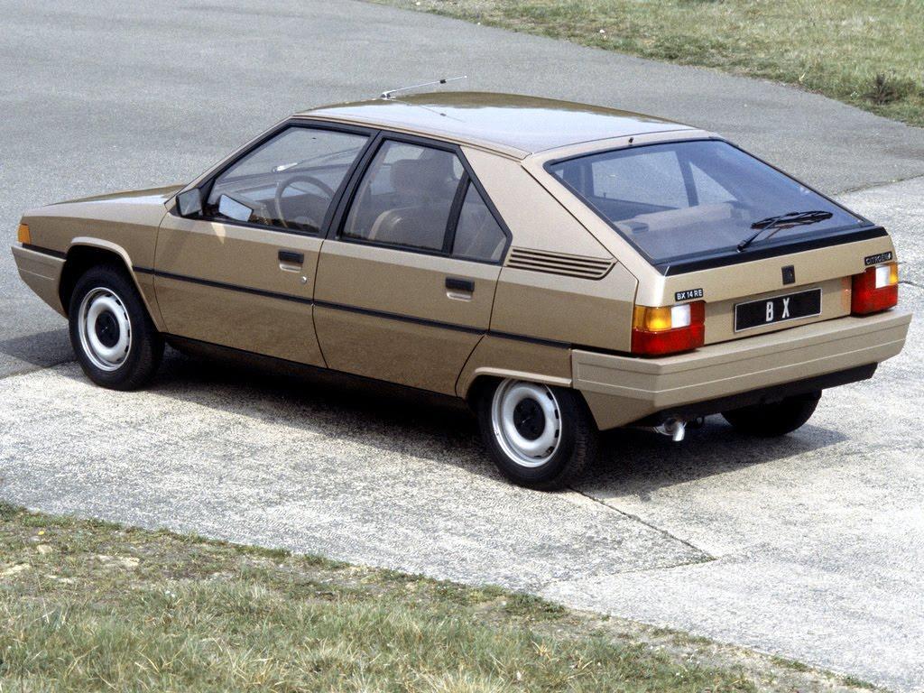 BX 14 RE 1982 3/4 arrière