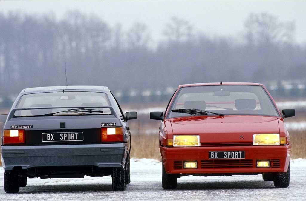 BX Sport 1985 avant et arrière