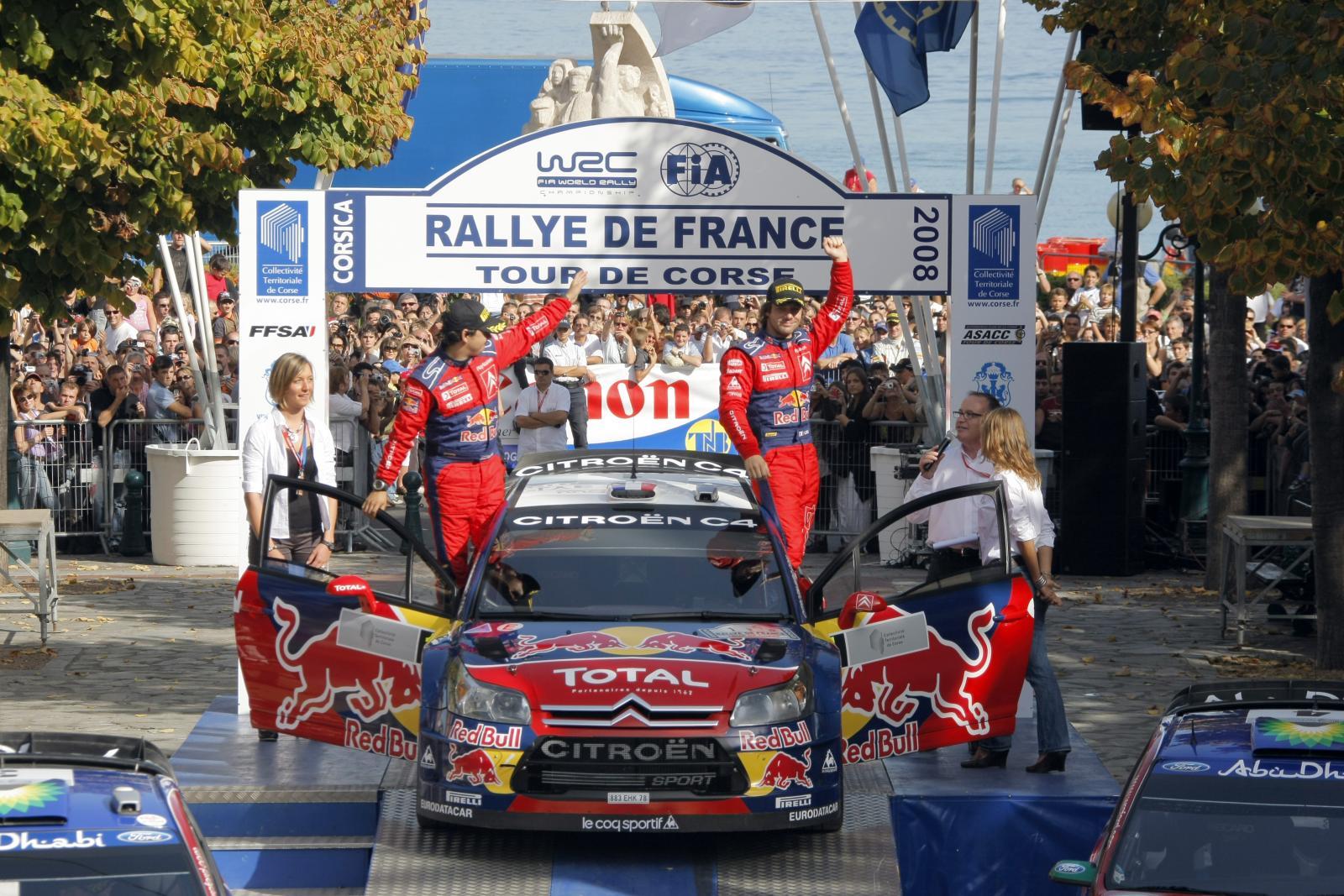 C4 WRC 2008 en Corse