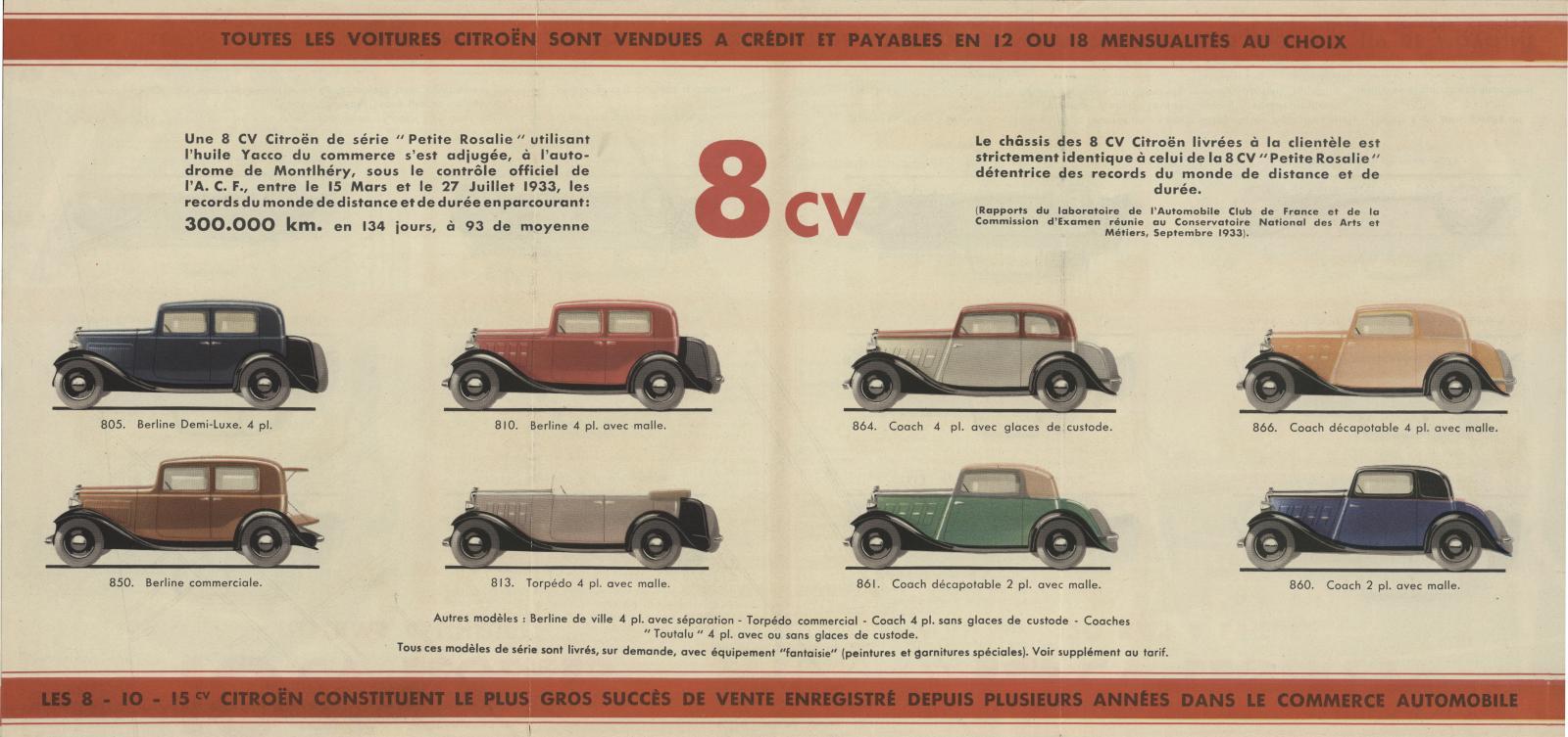 Katalogauszug Rosalie 1933