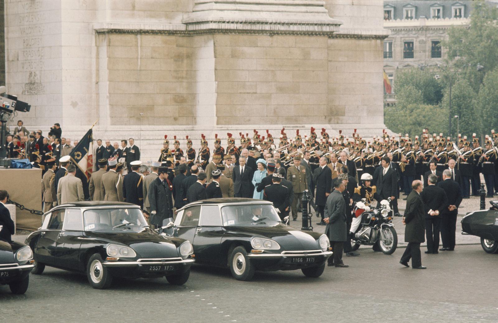 Visite de la reine d'Angleterre en France - DS Présidentielle - 1972