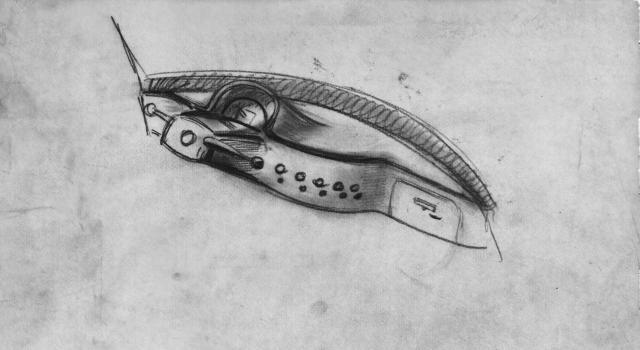 Dessin de style DS - Planche de Bord - Bertoni Flaminio - 1951